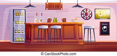 o, de madera, vacío, cerveza, escritorio, barra, interior, bar