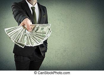 o, efectivo, concepto, préstamo, banca