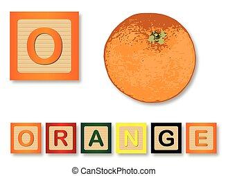 O es de naranja