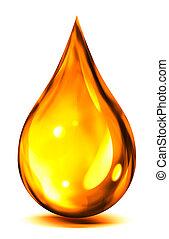 o, gota del aceite, combustible