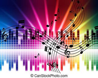 o, juego, canto, plano de fondo, música, disco, colores, medios