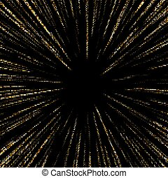 o, rays., sol, resumen, dorado, halftone, estrellas