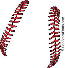 o, ve, sofbol, beisball, cordones