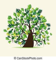 Oak Tree, verano