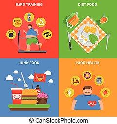 Obesidad 2x2 concepto de diseño