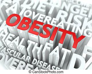 obesidad, concept.