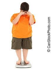 obeso, escala, morbidly, grasa, niño