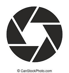 objetivo, cámara, (symbol), icono
