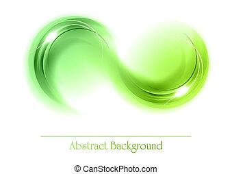 Objetos abstractos verdes
