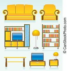 objetos, habitación, vida