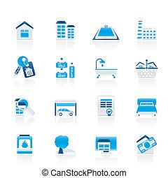 Objetos inmobiliarios y iconos