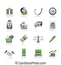 objetos, oficinacomercial, iconos