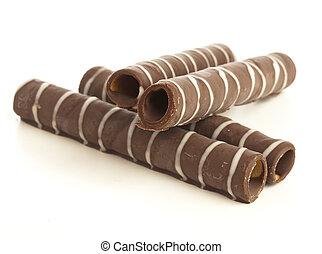 oblea, chocolate