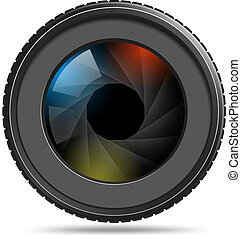 obturador, lente cámara, foto