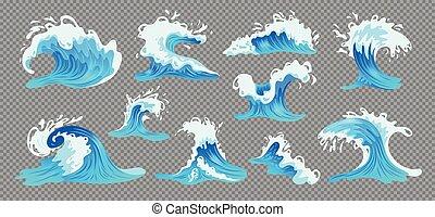 océano de ola, conjunto