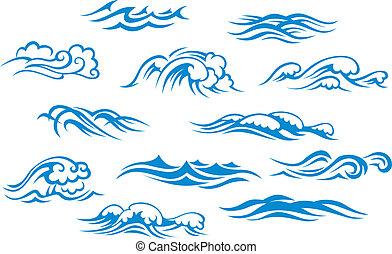 océano, mar, ondas
