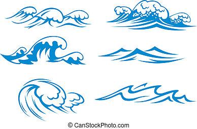 Océano y olas marinas
