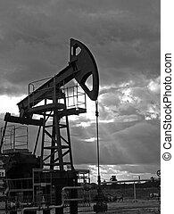 Ocaso de petróleo BW