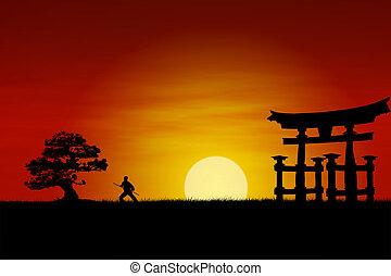 ocaso, japonés