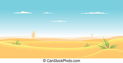 occidental, profundo, desierto