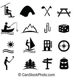 Ocio, deportes y iconos recreativos