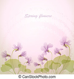oferta, primavera, flowers., violeta, backg