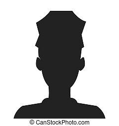 Oficial de policía silueta icono