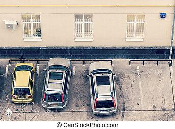 oficina, coches