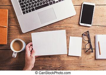 oficina, composición, escritorio