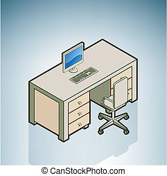 Oficina con silla