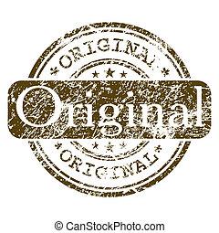 oficina, estampilla, -, eps, caucho, original., 8