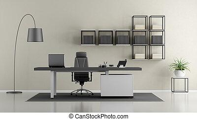 Oficina moderna minimalista