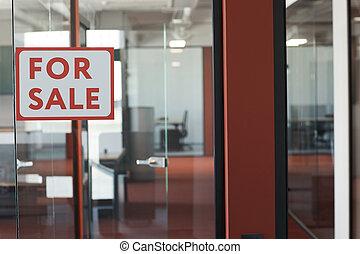 oficina, plano de fondo, venta