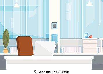 oficina, vacío, interior, silla, moderno, lugar de trabajo, escritorio