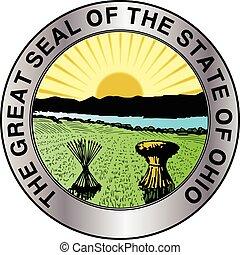 ohio, estado, sello