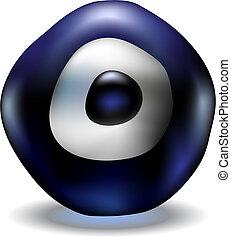 ojo azul, mal
