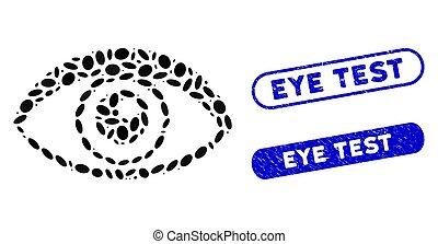 ojo, collage, elipse, filigranas, prueba, angustia