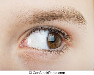 Ojo humano mirando a la derecha