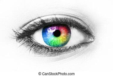 Ojos coloridos