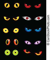 Ojos de animal puestos