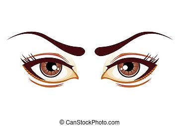 Ojos de dama