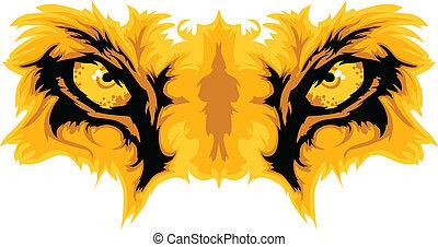 Ojos de león, vector gráfico