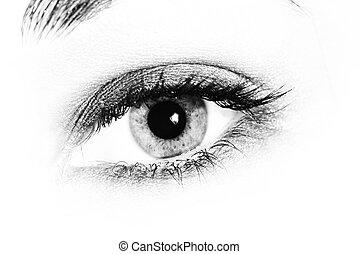 Ojos de mujer.