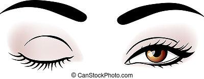 Ojos de mujer vector