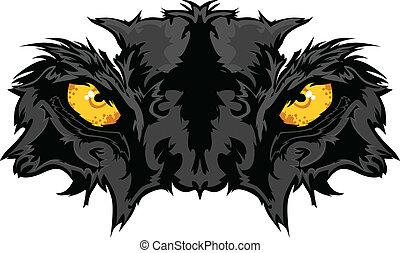 Ojos de pantera, mascota gráfica