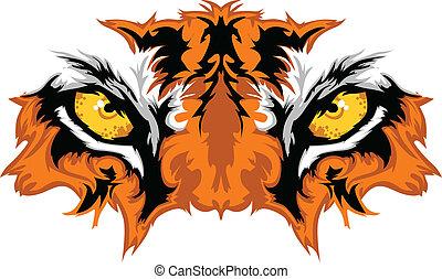 Ojos de tigre, mascota gráfica
