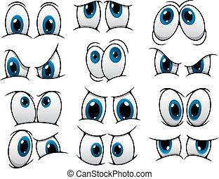 Ojos graciosos de dibujos animados