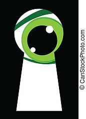 Ojos verdes mirando