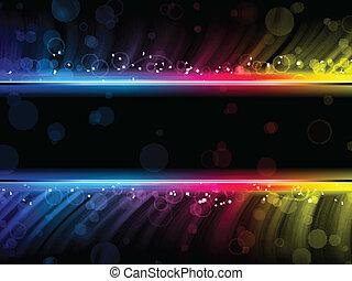 Olas abstractas coloridas en el fondo negro