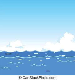 Olas marinas de fondo